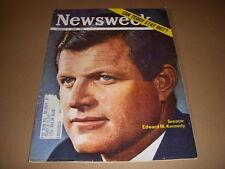 Newsweek Magazine, August 5, 1968, Edward Kennedy, Bob Gibson, St. Louis Cards!