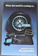 1976 Honda Civic Accessories Catalog Sales Brochure Excellent Original 76