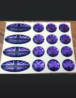 METALLIC PURPLE /BLACK DOMED Stickers / decals  FOR DELKIM TXI PLUS EV ALARMS