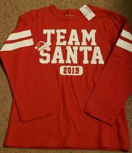 "NWT Children's Place Boys ""Team Santa"" Long Sleeve Shirt, Size 5/6"