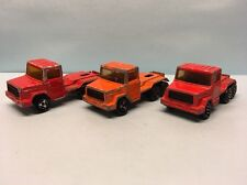 Diecast Majorette Lot of 3 Magirus Deutz Truck Red Wear & Tear Used Condition
