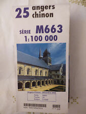 Carte IGN serie M663 25 angers chinon 2006