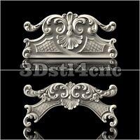 2 3D STL Models Crown Decor for CNC Router Carving Machine Artcam aspire Cut3D