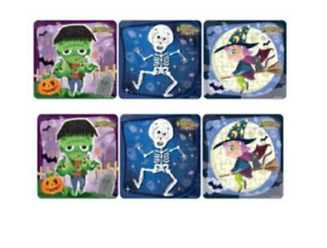 6 HALLOWEEN Jigsaw Puzzles Childrens Boys Girls Spooky Party Bag Fillers Kids