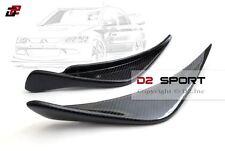 Carbon Fiber R Style Front Bumper Canards Fit Mitsubishi Lancer Evolution Evo 8