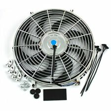 14 Inch Thermo Fan Electric Fan Chrome Curved Blade