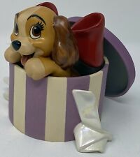 WDCC LADY AND THE TRAMP LADY A PERFECTLY BEAUTIFUL LITTLE LADY W/ PIN & COA