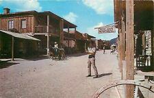 Old Tuscon AZ~US Marshall Street Scene~Wagon Wheel~Give Me Liberty Stamp 1950s
