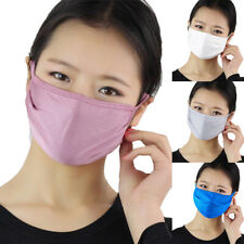 Anti Droplet Dustproof Washable Reusable Double Layer Silk Thin Face Mouth Cover