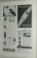 1937 Graflex cameras advertisement for National Graflex Speed Graphic, half page
