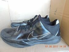 Nike Zoom Kobe V 5 Blackout 386429-003 men's black basketball shoes size 17