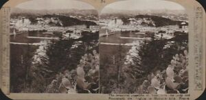 Vintage Stereoview Card - The Coastline of Nice, France - Realistic Travels