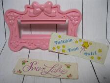 Vintage G1 My Little Pony BABY BONNET SCHOOL of DANCE PINK SIGN FRAME/swan lake+