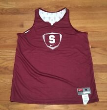 New Nike Women's M Stanford Tree Reversible Lacrosse Jersey Maroon White