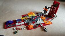 Motor Max 2003 Take Along Fire Engine/Station Fold Out Playset with 7 Vehicles