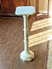 Vintage Italian White Marble Pedestal