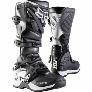 Fox COMP 5 MX Motocross Offroad Boots Black Youth Kids Size Uk 13 Us 1 was£155