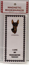 "Manchester Terrier Dog Magnetic Bookmark,""I Love My Manchester Terrier"""