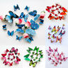 12 St. 3D Schmetterling Schmetterlinge Wandtattoo Deko Wanddeko Wandaufkleber