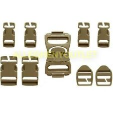 NEW ILBE Buckle Repair Set Kit DCU Desert Tan Nexus Fastex Coyote 16 piece MOLLE