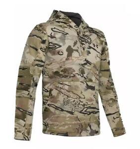 UNDER ARMOUR Rut Fleece Hunting Hoodie 1343219-999 Barren Camo Men's M $90