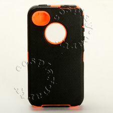 iPhone 4 iPhone 4s Defender Hard Shell Rugged Case - Black / Orange No Belt Clip