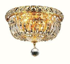 2528 Tranquil Collection Flush Mount D10in H8in Lt:4 Gold Finish (Royal Cut C...
