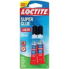 Loctite Super Glue Liquid 2 Gram Squeeze Tube, 2 Pack (1363131)