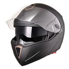 DOT Flip up Modular Full Face Motorcycle Helmet Dual Visor Race Motocross Matt L
