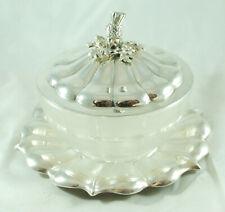 Victorian Silver Butter Dish Barnard Brothers London 1840 CEZX