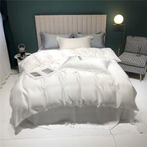 Luxury  Silk Bedding Set Silk Healthy Duvet Cover Set Flat Sheet Fitted Sheet