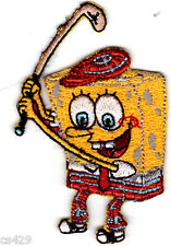 "3""  Spongebob sports golf embroidered patch fabric applique iron on character"