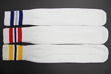 3 pairs 24 Inch Long Tube Socks Solid White Strip MEN'S & WOMEN Crew Socks 5-13