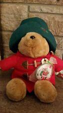 """1994 Christmas Paddington Teddy Bear Plush with Ornament 17"""" tall Sears"""