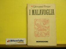 L 5.599 LIBRO I MALAVOGLIA DI GIOVANNI VERGA 1944