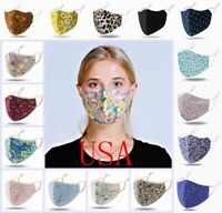 100% Cotton Fashion Face Mask Skin-Friendly 3D Cover Washable Reusable Covering