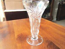 "Vintage Lead Crystal Vase, Starburst design, believed to be a Beyer, 5 1/2"""