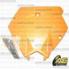 Orange Front Number Plate No Plate & Hose Bracket For KTM SX SXF 2003-2006