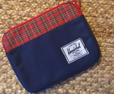 Herschel Padded Zipper Case Sleeve For Apple IPAD Plaid Denim