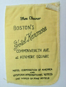 Vintage Boston Hotel Kenmore Shoe Shine Mitten Commonwealth at Kenmore Square
