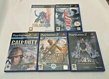 5 x Playstation 2 PS2 Games Bundle - Final Fantasy XII/Tomb Raider/007/COD