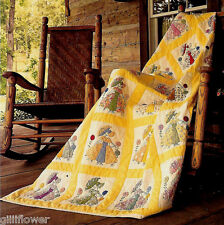 UMBRELLA GIRL (SUNBONNET SUE)  - APPLIQUE & BLOCK VINTAGE QUILT PATTERN