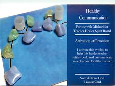 "HEALTHY COMMUNICATION Grid Card 4x6"" Heavy Cardstock For Use with Crystals"