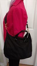 Tory Burch Black Ella Nylon Packable Satchel Bag Authentic