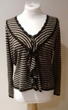 Phase Eight/8 Striped Fine knit jumper. Size 16. 100% Cotton