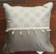 NEW WATERFORD DIMITRIOS CHARCOAL  BEADED 16 X 16 SQUARE THROW PILLOW