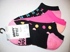 Happy Style Socks Sport Low Cut Socks 3 Pair Shoe Size 5.5-9.5 NEW #20