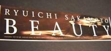 RYUICHI SAKAMOTO original 1990 music biz promo strip advert BEAUTY