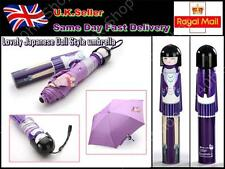 Lovely Japanese Doll Style umbrella Anti-UV Rainproof Folding Bottle Purple