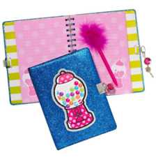 Gumball Locking Diary Journal pen and keys